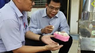 เครื่องปอกกระเทียม นวัตกรรมใหม่จากสาขาวิชาเทคนิคพื้นฐาน วิทยาลัยธาตุพนม มหาวิทยาลัยนครพนม
