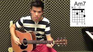 周杰伦【簡單愛】吉他教学 - 建德吉他教程 #8(必学吉他入门歌)