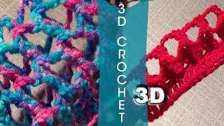 getlinkyoutube.com-3D Crochet Stitch | Three Dimensional Crochet