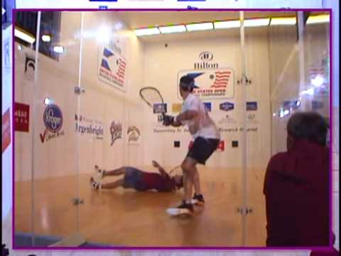 2001 US Open Men's Pro Final - Swain vs Ellis: end of Game 3