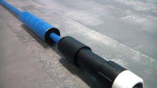 getlinkyoutube.com-New 9.5mm barrel for my PVC compressed air gun.