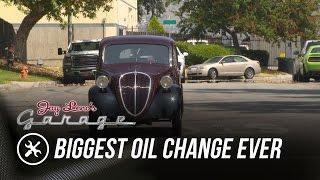 getlinkyoutube.com-Biggest Oil Change Ever - Jay Leno's Garage