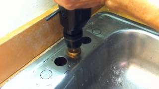 getlinkyoutube.com-Drilling Large Holes in Stainless Steel the Easy Way
