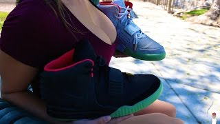 getlinkyoutube.com-Authentic Air Yeezy 2 vs Replica Air Yeezy 2 (MUST WATCH)