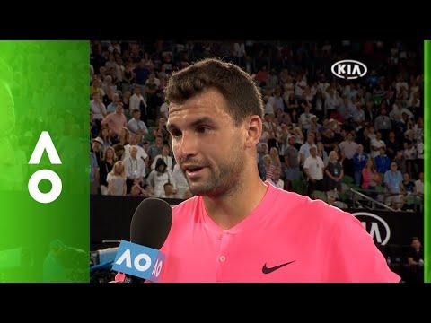 Grigor Dimitrov on court interview | Australian Open 2018