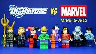 getlinkyoutube.com-LEGO DC Universe vs Marvel Superheroes Knock Off Minifigures Set 4 (Bootleg)