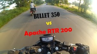getlinkyoutube.com-Royal Enfield Classic 350 vs TVS Apache RTR 200 4v | Dangerous Street Race | Episode 4 |