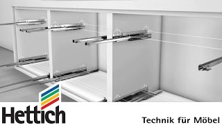 getlinkyoutube.com-Quadro runners for wooden drawers, made by Hettich