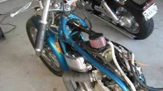 getlinkyoutube.com-Suzuki Intruder RatRod Bobber Project: $12 dollar pipes