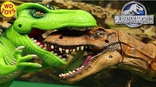 getlinkyoutube.com-New JURASSIC WORLD TYRANNOSAURUS REX 2015 Playskool By Hasbro Unbox Review By WD Toys
