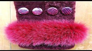 getlinkyoutube.com-Как пришить пуговицу на пальто, шубу, дубленку