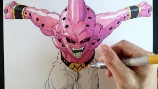getlinkyoutube.com-Cómo dibujar a Kid Buu explicado paso a paso | How to draw Kid buu (English subt. CC)