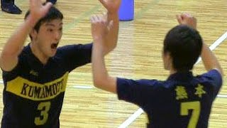 getlinkyoutube.com-バレーボール国体3位決定戦★2【石川 vs 熊本】 わかやま国体  Volleyball High School Men's Japan