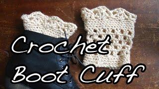 getlinkyoutube.com-Crochet Lace Boot Cuffs Tutorial