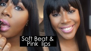 getlinkyoutube.com-GRWM | Soft Beat with Pink Lips WOC + Wig with Bangs