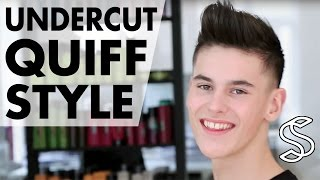 getlinkyoutube.com-Undercut Quiff Hairstyle ★ Professional hairstyling tips for men ★ By Slikhaar TV