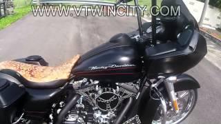 "getlinkyoutube.com-Bad Ass Road Glide Custom, Harley Screaming Eagle 120R motor, 21"" wheel Stretched Bags"