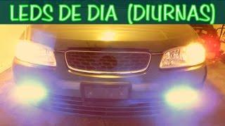 getlinkyoutube.com-COMO INSTALAR LUCES LED DE DIA (duirnas) controladas con switch