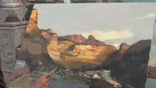getlinkyoutube.com-Oil Landscape Painting Demonstration
