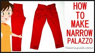 getlinkyoutube.com-How To Make Narrow Palazzo | Cutting And Stitching | DIY - Tailoring With Usha