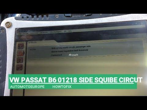 VW PASSAT B6 SIDE SQUIBE  CIRCUIT 01218 PASSENGER SIDE YouTube  AME Motors Howtofix