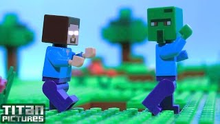 getlinkyoutube.com-Zombie Life - Lego Minecraft Animation