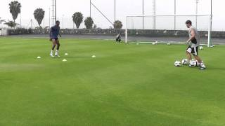 Striker Specific Finishing Drill - TFP Pre Season Football Camp