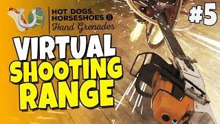 getlinkyoutube.com-Virtual Shooting Range & Guns #5 - Chainsaw Massacre - H3VR Htc Vive