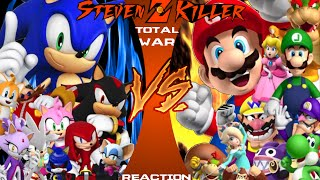 getlinkyoutube.com-MARIO vs. SONIC TOTAL WAR Cartoon Fight Club Reaction