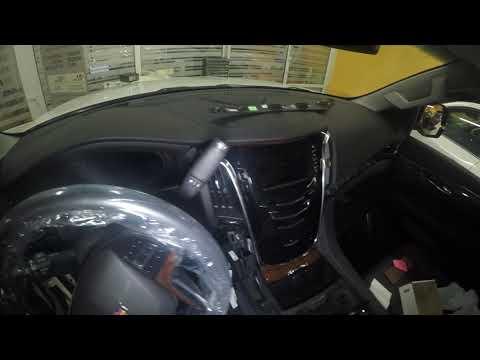 Защита от угона Cadillac Escalade Пример разбора салона для скрытой установки