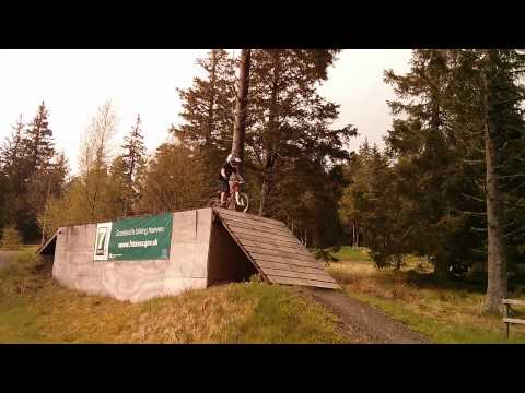 Glentress Box Jump by my 6 year old.