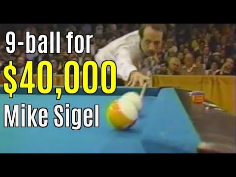 Sigel's historic $40,000 9-ball..3 final matches