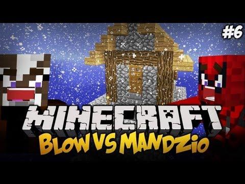 BLOW VS MANDZIO - MANDZIO NIE STRZELAJ + Minimalistyczny Domek !! - S01E06 (Single Block Challange)