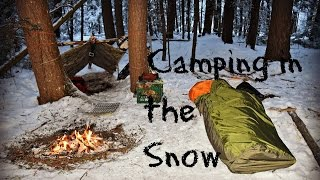 getlinkyoutube.com-Solo Winter Overnight Bushcraft Camp