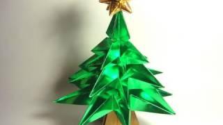 getlinkyoutube.com-Origami Christmas Tree (NO glue!)
