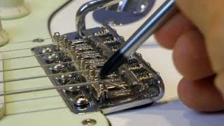 getlinkyoutube.com-How To Set Up a Vintage Strat Six Bolts Screws Tremolo for Best Floating Performance