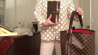 getlinkyoutube.com-Louis Vuitton Delightful Damier Ebene MM size Unboxing.. so excited! (New Model)