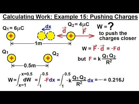 Calculus 2: Apllications - Calculating Work (16 of 16) Calculating Work Ex. 15: Pushing Charges