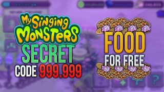 My Singing Monsters : NEW SECRET CODE 999.999 FOOD ! [ WITH PROOF ] (NO DOWNLOAD)