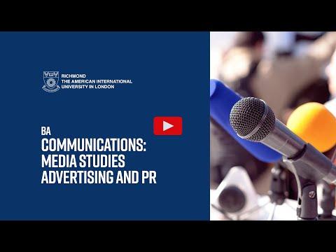Communications: Advertising & PR / Media Studies BA (Hons)