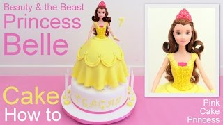 getlinkyoutube.com-Disney Princess Belle Doll Cake How to By Pink Cake Princess