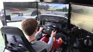 getlinkyoutube.com-iRacing FULL MOTION SIMULATOR - Spa - Williams F1 Car