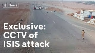 getlinkyoutube.com-Exclusive: CCTV of Isis attack on Libya checkpoint