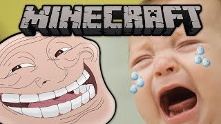 Minecraft: Trolling a Baby! (Banned from Server)