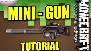 getlinkyoutube.com-MINECRAFT - PS4 - EASY MINI GUN TRAP - HOW TO - TUTORIAL ( PS3 / XBOX /PC ) WII
