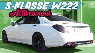 getlinkyoutube.com-Mercedes Benz S Klasse S350 BT Diesel V8 Motorsound S63 S65 AMG Auspuffanlage Schawe Car Design