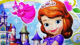 getlinkyoutube.com-Disney SOFIA THE FIRST Puzzle Games Rompecabezas Jigsaw Play Kids Puzzles De Toys