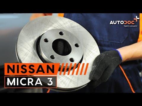 Где находятся задние тормозные диски у Nissan Микра