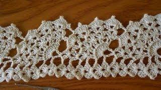 getlinkyoutube.com-Crochet Orilla Abanicos Grandes