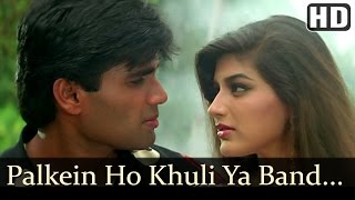 getlinkyoutube.com-Palkein Hon Khuli Ya Band - Sunil Shetty - Sonali Bendre - Takkar - Bollywood Songs - Kumar Sanu